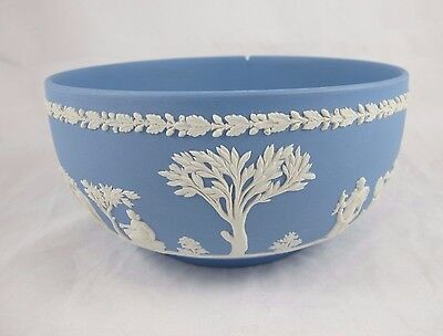 Wedgwood Blue Jasper Jasperware Large Bowl Sacrifice Damaged