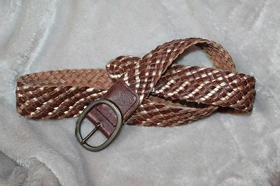 NEW NWT American Eagle Womens Braided Brown Gold Belt Small / Medium
