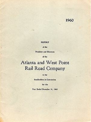 Atlanta & West Point Rr - Annual Report - 1960
