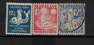 Netherlands 1930 child welfare mint & used