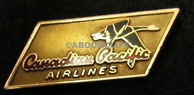 CANADIAN PACIFIC AIRLINES GOLD SERVICE Pin 1950-57 10K BIRK's GOOSE