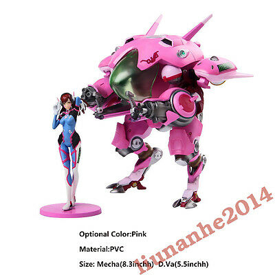 Overwatch OW DVA D.VA Hana Song & MEKA Mobile Suit PVC Figure Collection Gifts