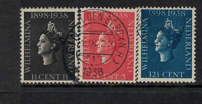 Netherlands 1938 QW coronation 40th anniversary used