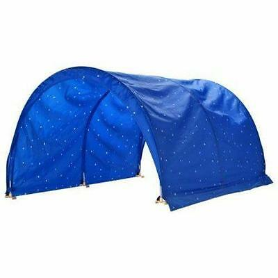 IKEA KURA Bed Canopy Tent for Sleeper Bunk Blue White Spots Polka Dots READ