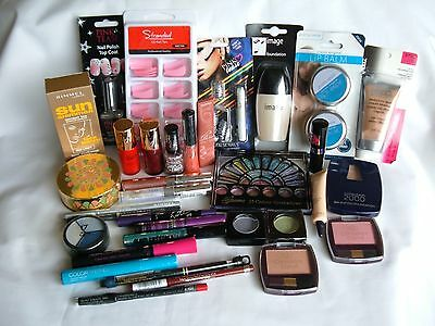 JOB LOT X 34 mixed Cosmetics -Rimmel, Maybelline, Collection 2000, Bourjois
