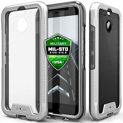 For HTC BOLT Case Cover Tempered Glass Screen Protector Clear Slim Shockproof