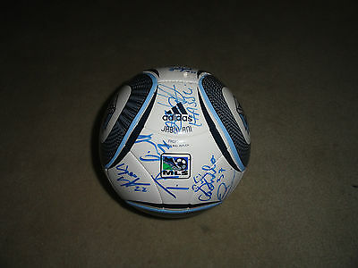 2011 Vancouver Whitecaps 15x Team Signed Autographed 2011 MLS Soccer Ball COA