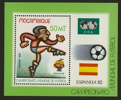 Mozambique 818 MNH World Cup Soccer, Football, Flags
