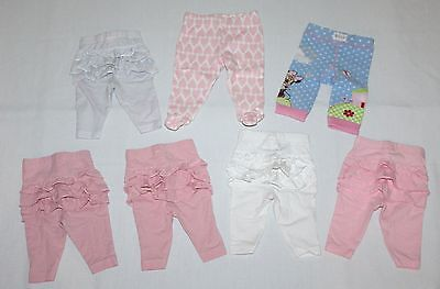 * 0000 7 x BABY Girls Clothes Tights Long Pants Ruffle Bums - COMBINED POST *