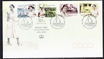 Cocos Islands 2004 Royal Visit First Day Cover  APM36130