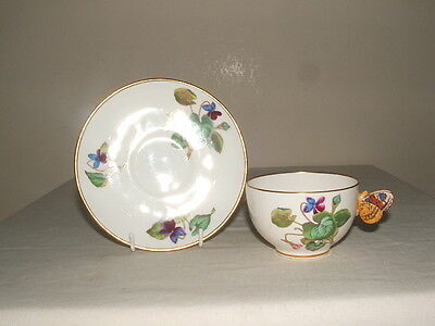 Mintons Rare Vintage Floral Butterfly Handled Cup & Saucer Truly Stunning