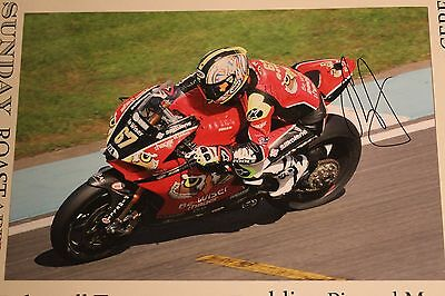 Motogp/wsb/bsb /iom Tt.shakey Byrne  12X8 Appox   Hand  Signed Picture