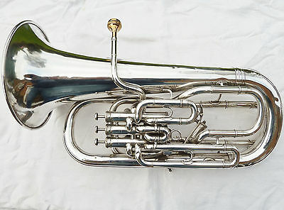Excellent Boosey & Hawkes 4 Valve Compensating Euphonium + Denis Wick Mouthpiece