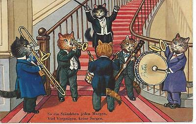 Cats  Jazz band play on staircase