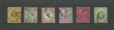 6 QV stamps from Jubilee set. High CV (GB2)
