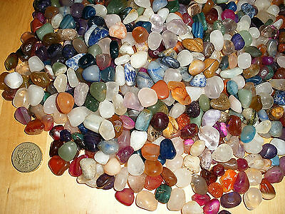 WHOLESALE 100 ASSORTED 10mm - 18mm SMALL POLISHED TUMBLE STONE GEMSTONE CRYSTALS