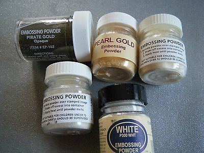 Embossing Powder X 5 Mixed Colours