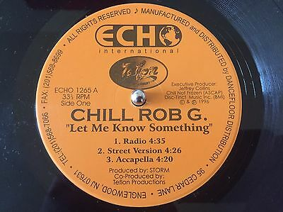 "Chill Rob G-Let Me Know Something 12""vinyl 1996 Rap Hip Hop"
