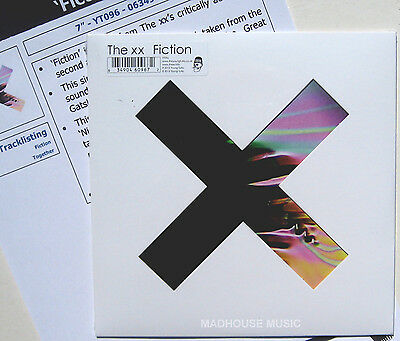 """The XX 7"""" Fiction / Together 500 MADE Limited Edn. Deluxe Slv. + PROMO SHEET"""