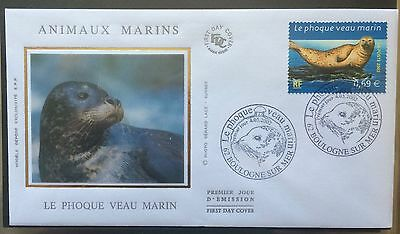 £££ France - FDC 2002 - animaux marins Phoque veau marin Boulogne sur mer