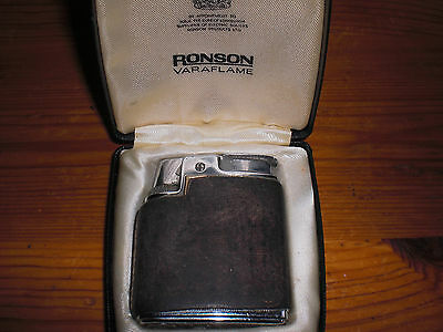 Ronson Varaflame Leather Cased Lighter