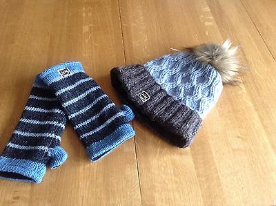 Helly Hanson Bobble Hat And Gloves New Without Tags