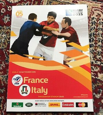 Rugby Work Cup Program 2015 France Italy