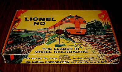 Vintage Lionel HO 5709 Complete Freight Set All Original In Box - SEE PICTURES