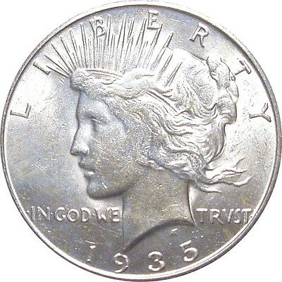 1935-S Peace Dollar--Lustrous Mint State Coin