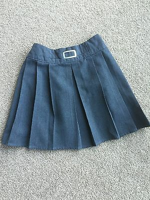 Marks and Spencer M&S Girls Grey School Uniform skirt size 7-8 years
