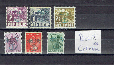 Japanese  occupation Bali, with Green Anchor mint ovp's