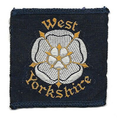 Large Oldwest Yorkshire Half Bound District Scout Badge