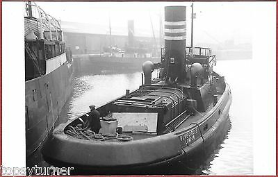 London Tug Blue Circle, Working In London Docks c1927.  Excellent Real Photo.
