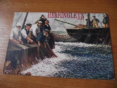 Herringlets Fisherman Food Postcard Advertising Very Nice