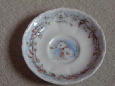 ROYAL DOULTON BRAMLEY HEDGE 'WINTER' SAUCER  new