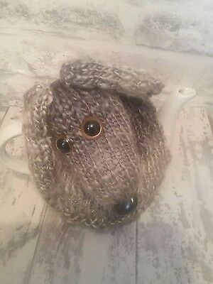 Hand knitted Greyhound/sighthound tea cosy