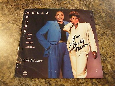 Melba Moore Autographed 45 Record Cover Hand Signed A Little Bit More