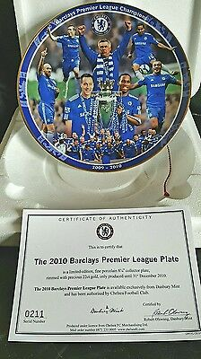Chelsea FC.  Porcelain Collectors Plate.  Limited Edition. One of a Pair.
