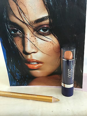 Collection 2000 Bronze Frosted Lipstick  & Free Gold  Liner Pencil New In  Pack