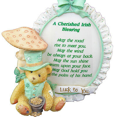 Cherished Teddies A Cherished Irish Blessing Plaque 1100981 Boxed