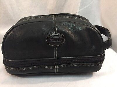 Fossil Black Leather Toiletry Kit
