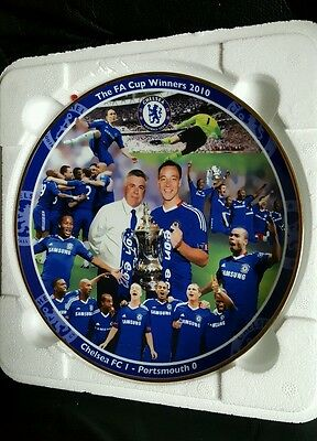 Chelsea FC Porcelain Collectors Plate. Limited Edition.  One of a pair.