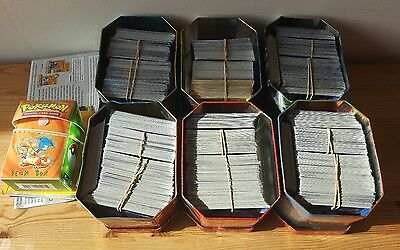 Huge Pokemon bundle approx 2100 genuine cards. Also includes tins and ephemera.