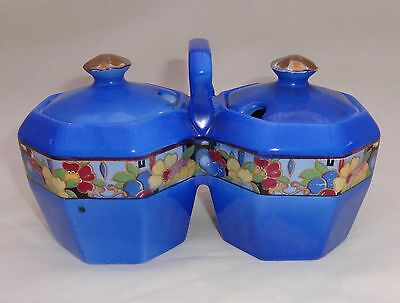 Attractive Collectable Art Deco Bcm Nelson Ware Pottery Jam Preserve Pots