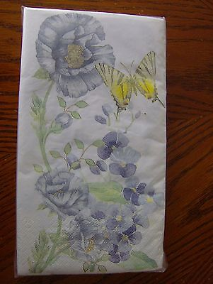 Lenox Butterfly Meadow Blue Paper 3-Ply Guest/Dinner Napkins Set of 40 New