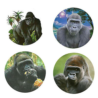 Gorilla Magnets: 4 Cool Gorillas for your Fridge or Collection-A Great Gift