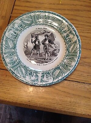 Antique luneville plate 1880- 1922