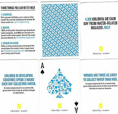 "SUPERB PACK ""Bicycle Type ** Charity Water"" Playing Cards"
