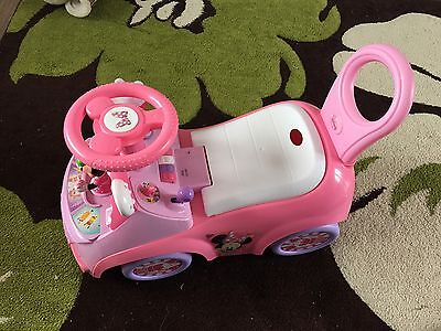 Girls Disney Minnie Mouse Pink Ride On Toy Car With Sounds Great Condition