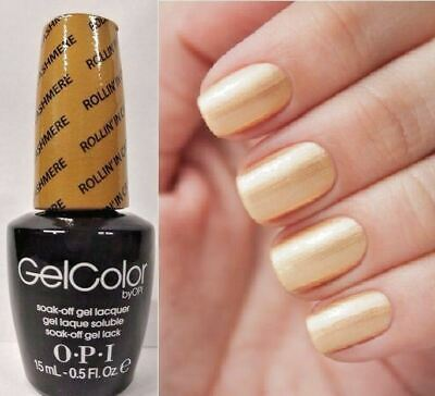 OPI Gwen GELCOLOR ~ROLLIN IN CASHMERE~ Gold Shimmer Nail Lacquer Polish .5oz F13